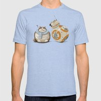 CAT AND DROID Mens Fitted Tee Tri-Blue SMALL