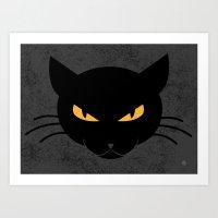 Evil Meow Art Print