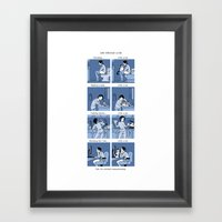 Life With/out A Cat Framed Art Print