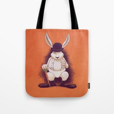 A Clocwork Carrot Tote Bag