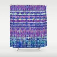 Ikat #8f Shower Curtain