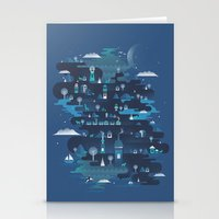 Land Of The Blue Mountai… Stationery Cards