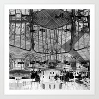 Summer space, smelting selves, simmer shimmers. 28, grayscale version Art Print