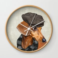 Elegant Mr. Dachshund Wall Clock