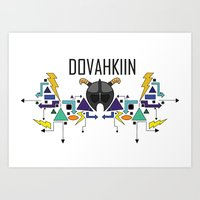 Skyrim: The Dovahkiin - BLUE Art Print
