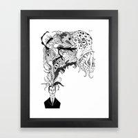 Mr Lovercraft's Monsters Framed Art Print