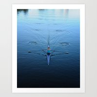 Rower On Charles River, … Art Print
