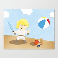 SW Kids - Luke At The Be… Canvas Print