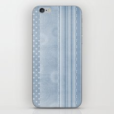 Blue and Gold Abstract Patterns iPhone & iPod Skin