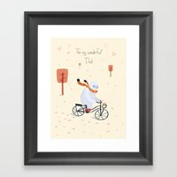 Yeti Bicycling Framed Art Print
