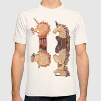 Precious Stone Unicorns Mens Fitted Tee Natural SMALL