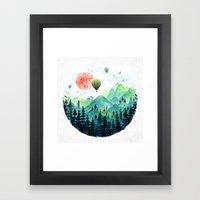 Roundscape Framed Art Print