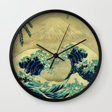 The Great Blue Embrace A… Wall Clock