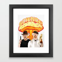 Mythbusters, for science! Framed Art Print