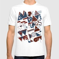 America The Brave Mens Fitted Tee White SMALL