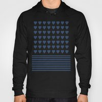 Heart Stripes Navy Hoody