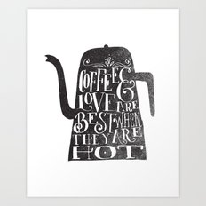 COFFEE & LOVE Art Print