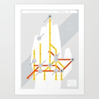 The Michigan Highway System Art Print