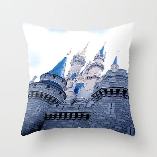 Disney Castle In Color Throw Pillow