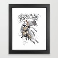 protect our wildlife  Framed Art Print
