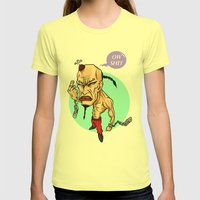 angry guy Womens Fitted Tee Lemon SMALL