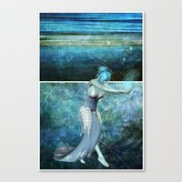 Queen Of The Sea... Dipt… Canvas Print