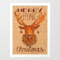 Merry Effing Christmas Art Print