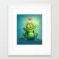 The frog Framed Art Print