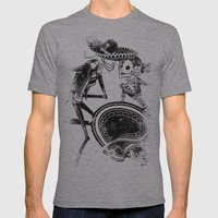ZAPATEADO Mens Fitted Tee Athletic Grey SMALL