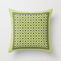Never Far Away (from the Valentine set) (colors: legally lime) Throw Pillow