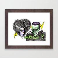 Be my Valentein?  Framed Art Print