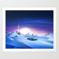 Cold Chase Art Print