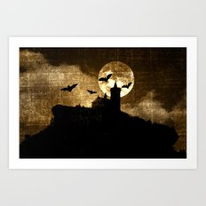 Bat's hour Art Print