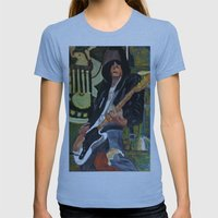 Johnny - ANALOG Zine Womens Fitted Tee Athletic Blue SMALL