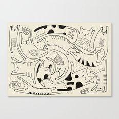 Cat paradise Canvas Print