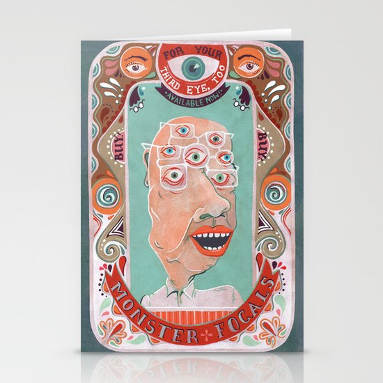Monster Focals Stationery Card