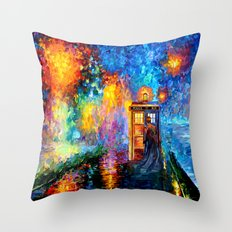 The 10th Doctor who Starry the night Art painting iPhone 4 4s 5 5c 6, pillow case, mugs and tshirt Throw Pillow