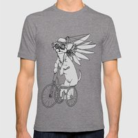 Steam Punk Chihuahua Mens Fitted Tee Tri-Grey SMALL