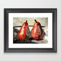 Pair Of Pears Framed Art Print