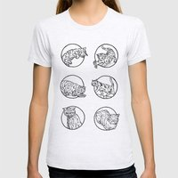 Cat Lyf Womens Fitted Tee Ash Grey SMALL