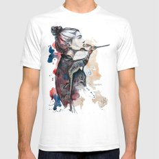 seehorse by carographic Mens Fitted Tee White SMALL
