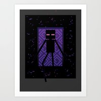 Here Comes The Enderman! Art Print