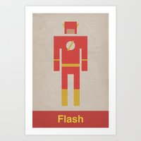 Retro Flash Art Print