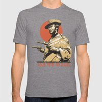 Man With No Name Mens Fitted Tee Tri-Grey SMALL