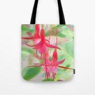 Watercolor Fuchsias Tote Bag