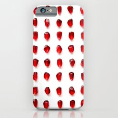pomegranate seeds, organized neatly iPhone 6 Slim Case