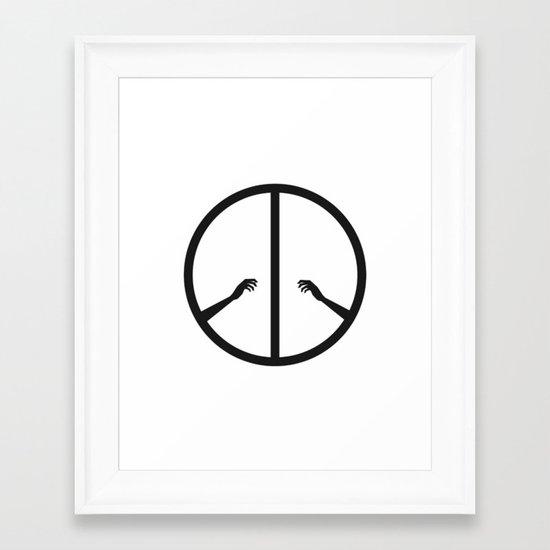 Peace struggle Framed Art Print