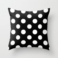 Polka Dots.. Throw Pillow