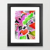 Vibrance Watercolour  Framed Art Print
