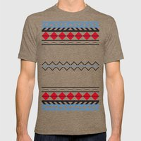 Aztec Dark Mens Fitted Tee Tri-Coffee SMALL
